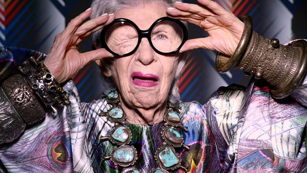 Iris Apfel wears ethnic Cuff with Bangles in DS 3 Campaign