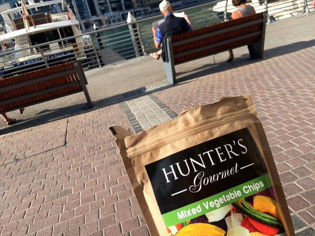 Healthy snack and Marina sightseeing