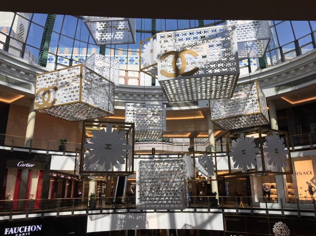 Chanel Installation at the Mall of Emirates in Dubai