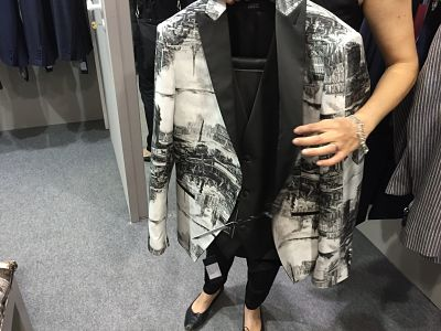 Prints are on formal jackets