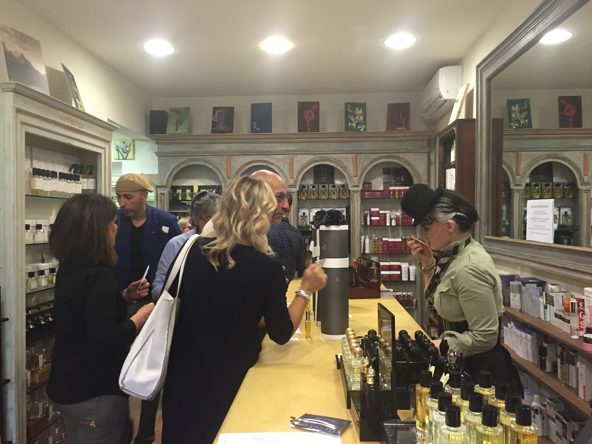 Naomi Goodsir at L'O in Florence for Pitti Fragranze