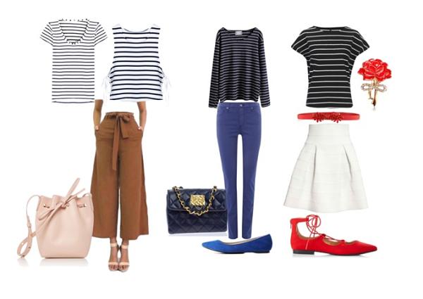 Gamine, Casual Gamine e City Girl Style per la maglia in stile Navy