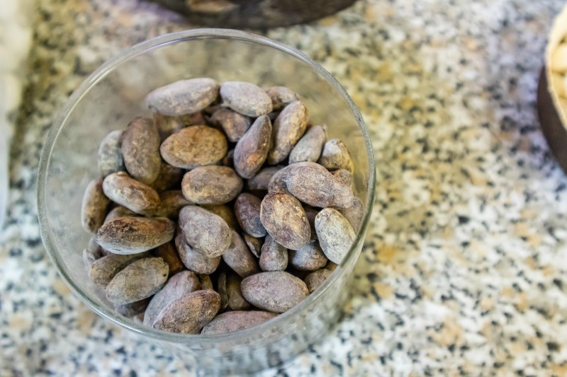These cocoa beans are going to become some delicious sweets at Bruno Corsini workshop!