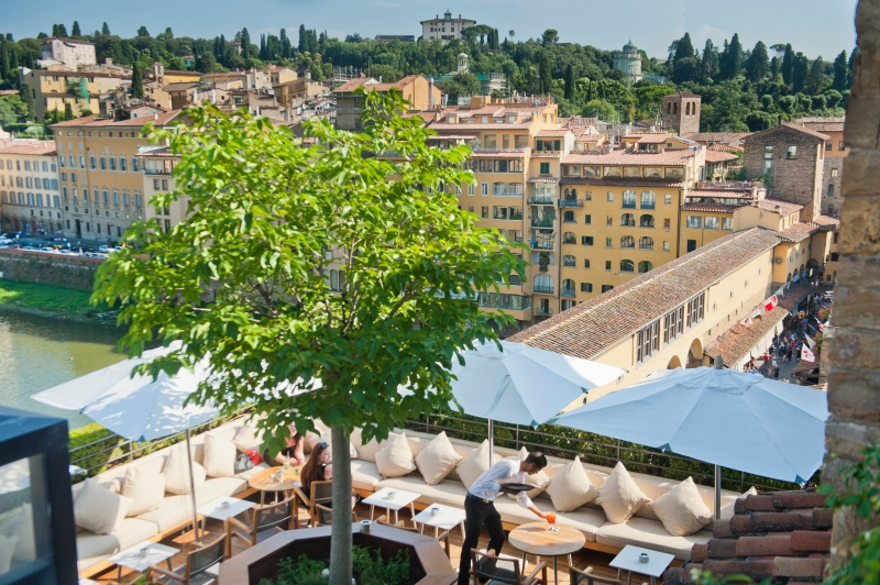 The Terrazza rooftop bar over Hotel Continentale