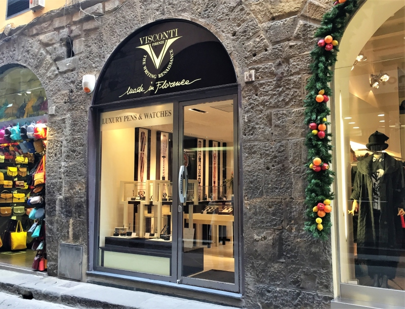 Visconti watches boutique in florence