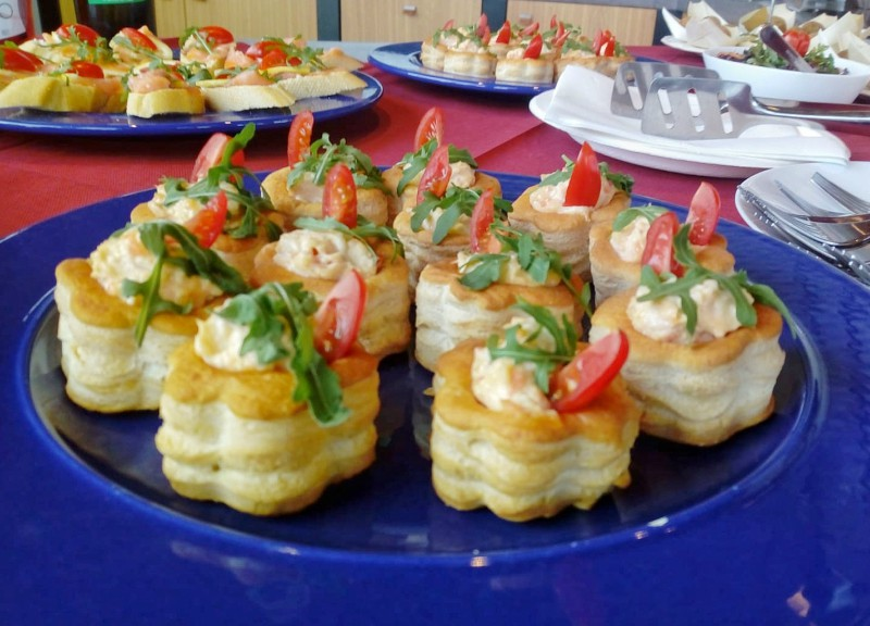 The snacks at the wine tasting experience at Di Ruscio Winery