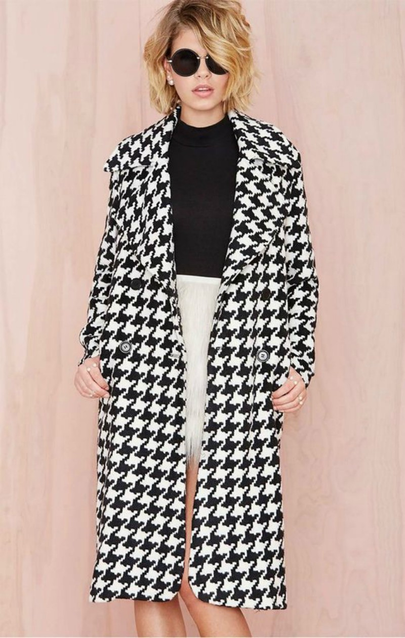 houndstooth statement coat for this winter