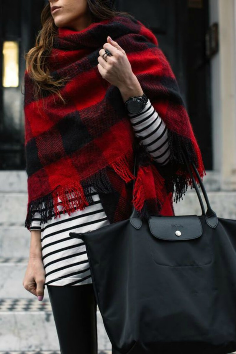 How to wear a wrap scarf this winter