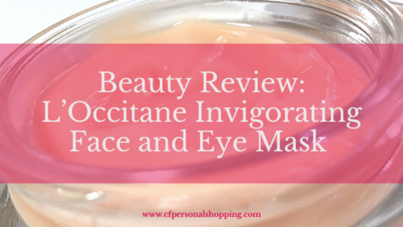 L'Occitane Invigorating Mask beauty review